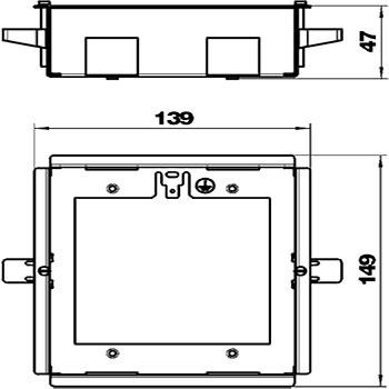 caja empotrar